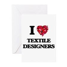 I love Textile Designers Greeting Cards