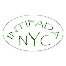 INTIFADA NYC Oval Decal
