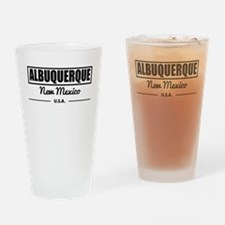 Albuquerque New Mexico Drinking Glass