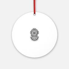 Diver Helmet Ornament (Round)