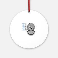 Divers Go Deep Ornament (Round)