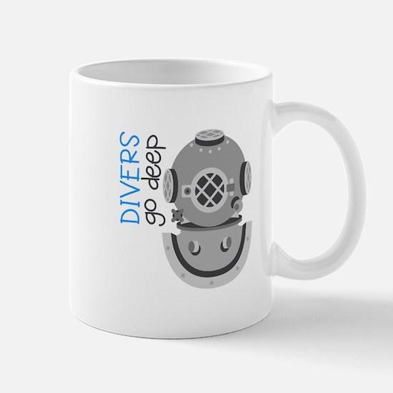 Divers Go Deep Mugs
