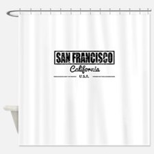 San Francisco California Shower Curtain