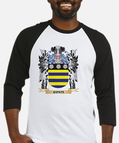 Conti Coat of Arms - Family Crest Baseball Jersey