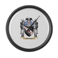 Conway Coat of Arms - Family Cres Large Wall Clock