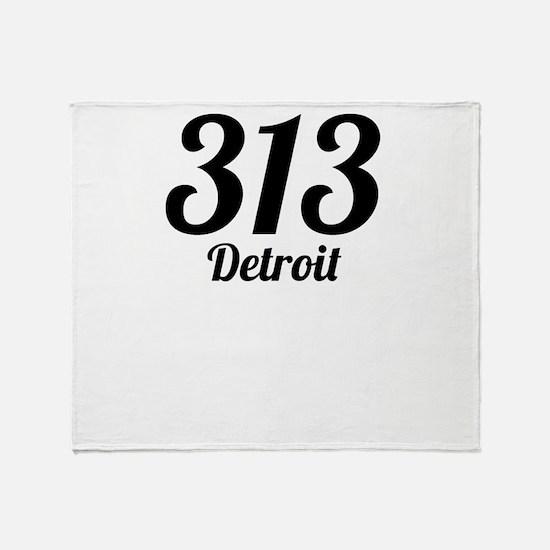 313 Detroit Throw Blanket
