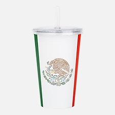 Flag Of Mexico Acrylic Double-wall Tumbler