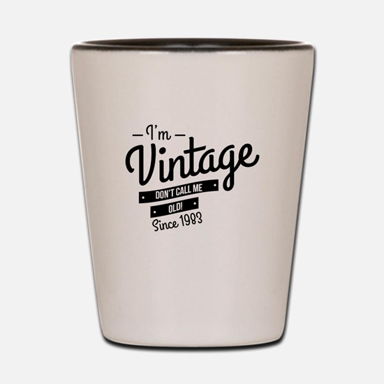 Im Vintage Since 1983 Shot Glass