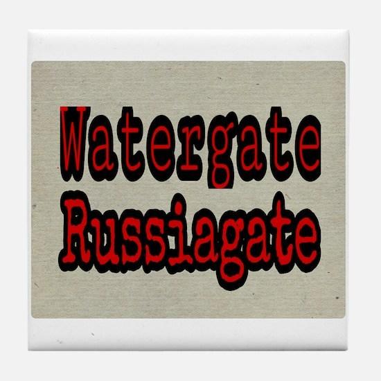 Watergate Russiagate Tile Coaster