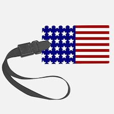 US Flag Stylized Luggage Tag