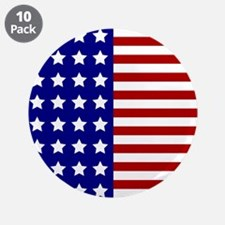 "US Flag Stylized 3.5"" Button (10 pack)"