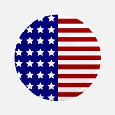 US Flag Stylized Button
