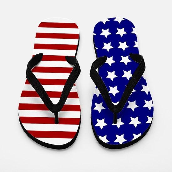 US Flag Stylized Flip Flops