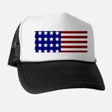 US Flag Stylized Trucker Hat