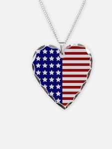 US Flag Stylized Necklace