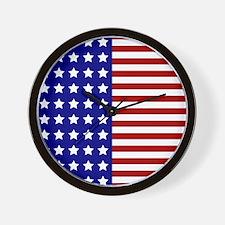US Flag Stylized Wall Clock