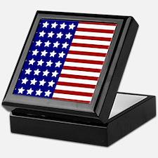 US Flag Stylized Keepsake Box