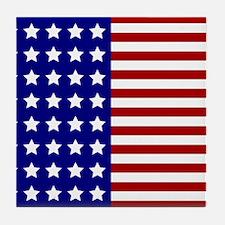 US Flag Stylized Tile Coaster