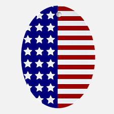 US Flag Stylized Ornament (Oval)