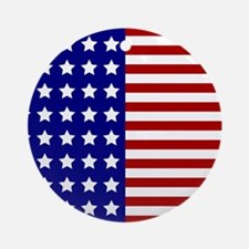 US Flag Stylized Ornament (Round)