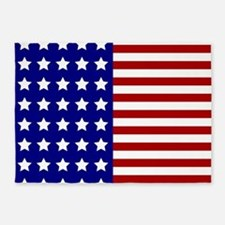 US Flag Stylized 5'x7'Area Rug