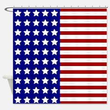 US Flag Stylized Shower Curtain