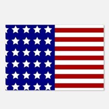 US Flag Stylized Postcards (Package of 8)