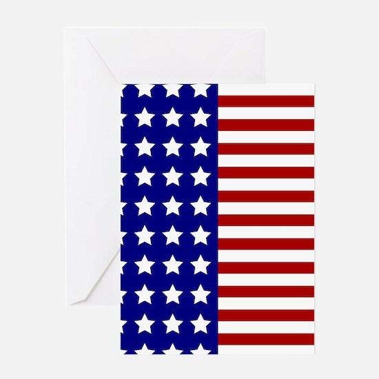 US Flag Stylized Greeting Cards