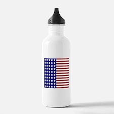 US Flag Stylized Water Bottle