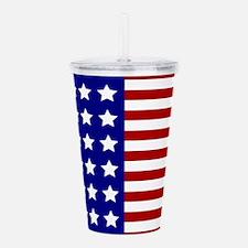 US Flag Stylized Acrylic Double-wall Tumbler