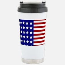 US Flag Stylized Stainless Steel Travel Mug