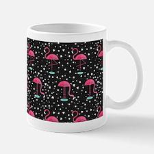 Pink on Black Flamingos Mug
