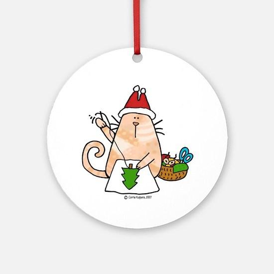 santa's little helper Ornament (Round)