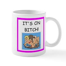 wrestling joke Mugs