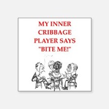 cribbage joke Sticker