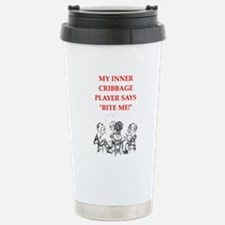 cribbage joke Travel Mug