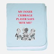 cribbage joke baby blanket