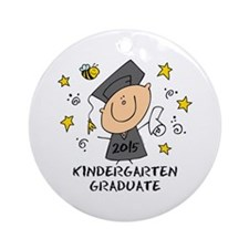 Cute Boy Kind Grad 2015 Ornament (Round)