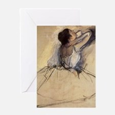 The Dancer by Edgar Degas Greeting Cards