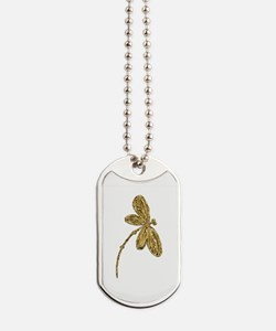 Golden Dragonfly Dog Tags