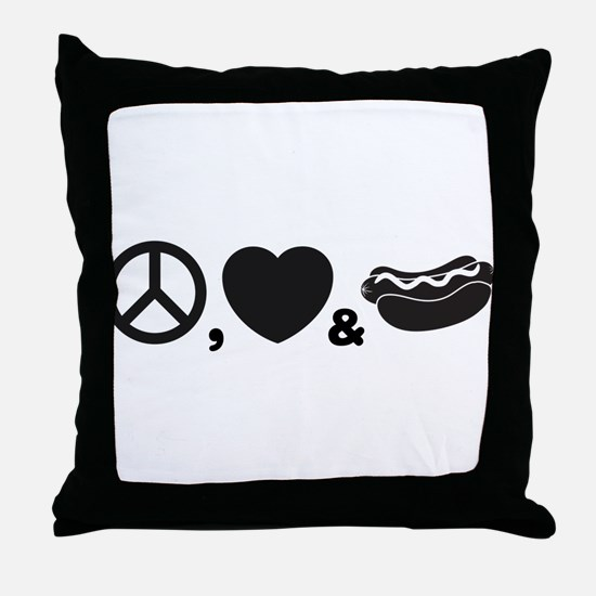 Hotdog Throw Pillow