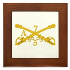A Company 5th Troop 7th Cavalry Framed Tile
