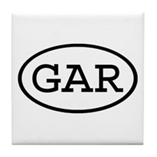 GAR Oval Tile Coaster