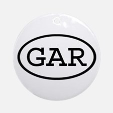 GAR Oval Ornament (Round)