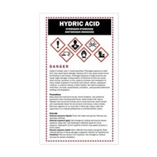 Hydric Acid / DHMO Warning Lab Decal