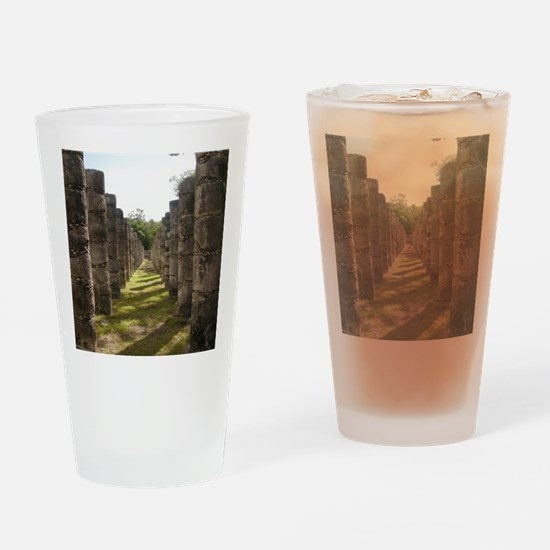 Funny Chichen itza Drinking Glass
