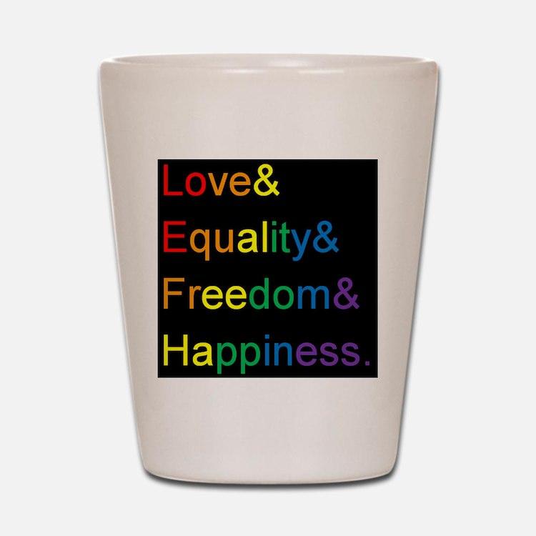 Pride Love& Shot Glass