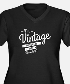 Im Vintage Since 1933 Plus Size T-Shirt