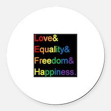 Unique Equality Round Car Magnet