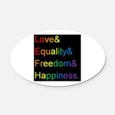 Cute Equality Oval Car Magnet